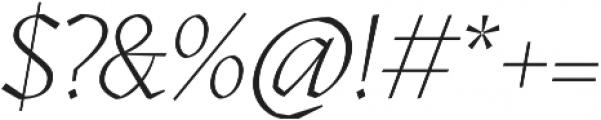 Kitsch Extralight Italic otf (200) Font OTHER CHARS