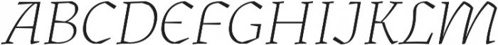 Kitsch Extralight Italic otf (200) Font UPPERCASE