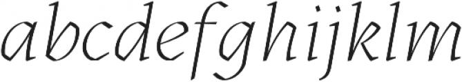 Kitsch Extralight Italic otf (200) Font LOWERCASE