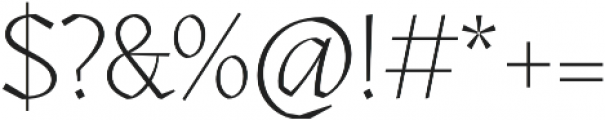 Kitsch Extralight otf (200) Font OTHER CHARS