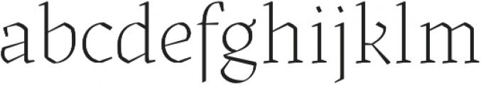 Kitsch Extralight otf (200) Font LOWERCASE