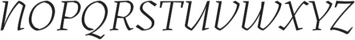 Kitsch Light Italic otf (300) Font UPPERCASE