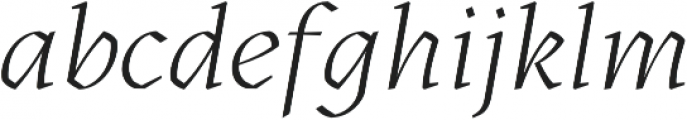 Kitsch Light Italic otf (300) Font LOWERCASE