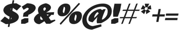 Kitsch Text Black Italic otf (900) Font OTHER CHARS