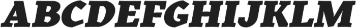 Kitsch Text Black Italic otf (900) Font UPPERCASE