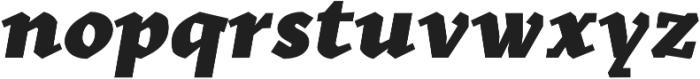 Kitsch Text Black Italic otf (900) Font LOWERCASE