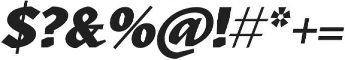 Kitsch Text Extrabold Italic otf (700) Font OTHER CHARS