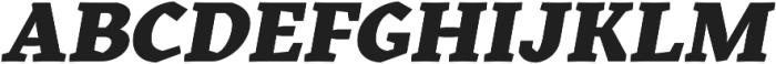 Kitsch Text Extrabold Italic otf (700) Font UPPERCASE