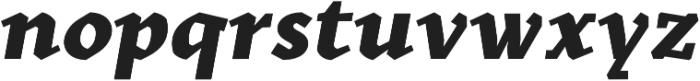 Kitsch Text Extrabold Italic otf (700) Font LOWERCASE
