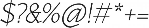 Kitsch Text Extralight Italic otf (200) Font OTHER CHARS