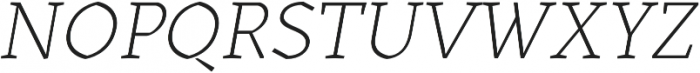 Kitsch Text Extralight Italic otf (200) Font UPPERCASE