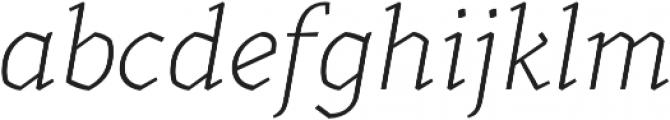 Kitsch Text Extralight Italic otf (200) Font LOWERCASE