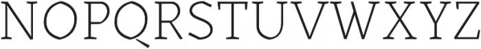 Kitsch Text Extralight otf (200) Font UPPERCASE