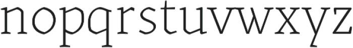 Kitsch Text Extralight otf (200) Font LOWERCASE