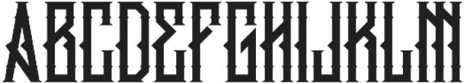 king armored Regular ttf (400) Font UPPERCASE
