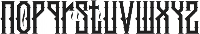 king armored Regular ttf (400) Font LOWERCASE