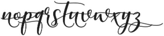 kissita alt 10 Regular otf (400) Font LOWERCASE