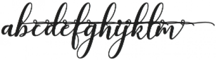 kissita alt 12 Regular otf (400) Font LOWERCASE
