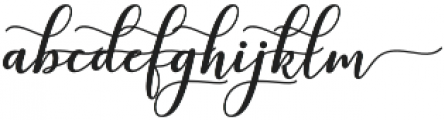 kissita alt 14 Regular otf (400) Font LOWERCASE