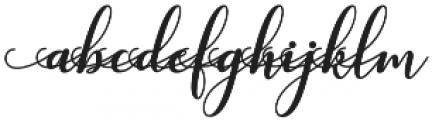 kissita alt 2 Regular otf (400) Font LOWERCASE