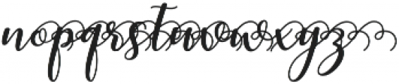 kissita alt 5 Regular otf (400) Font LOWERCASE
