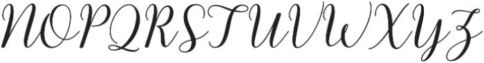 kissita alt 6 Regular otf (400) Font UPPERCASE