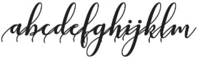 kissita alt 6 Regular otf (400) Font LOWERCASE