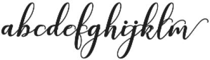 kissita alt 9 Regular otf (400) Font LOWERCASE