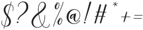 kissita alt Regular otf (400) Font OTHER CHARS