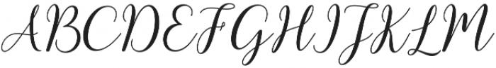kissita alt Regular otf (400) Font UPPERCASE