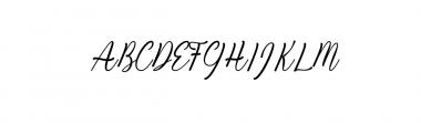 Kiara Akira.ttf Font UPPERCASE