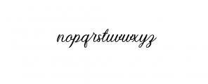 Kiara Akira.ttf Font LOWERCASE