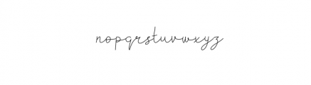 Kiarina.otf Font LOWERCASE