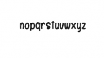 Kids Place Font LOWERCASE