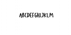 KidsRebel-Regular.ttf Font UPPERCASE