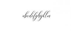 Kimberly Font LOWERCASE