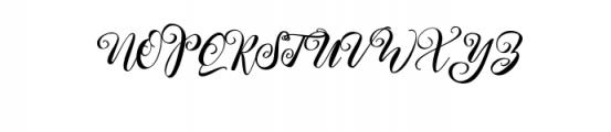 Kimberly.otf Font UPPERCASE