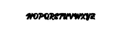 Kingfisher-Extruded.otf Font UPPERCASE