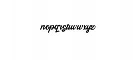 Kingfisher.otf Font LOWERCASE