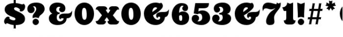 Killernuts Regular Font OTHER CHARS