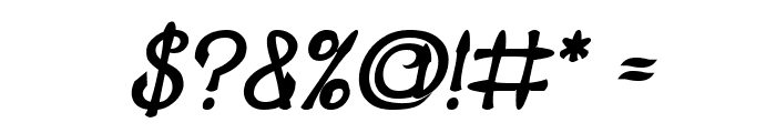 KING OF PIRATE Bold Italic Font OTHER CHARS