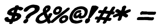 Ki Comic BoldItalic Font OTHER CHARS