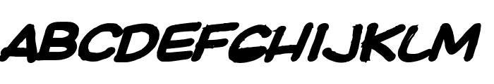 Ki Comic BoldItalic Font LOWERCASE