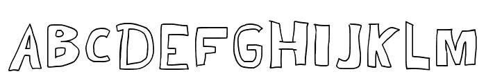 Kid Draws Font Regular Font UPPERCASE