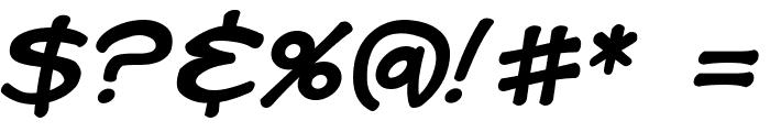 Kid Kosmic Italic Font OTHER CHARS