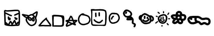 KidPixymbols Font LOWERCASE