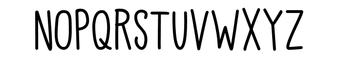 Kiddo Handwriting Medium Font UPPERCASE