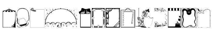 KiddyFrames Font LOWERCASE
