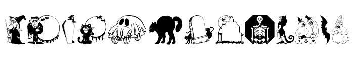 KiddyHalloween Font LOWERCASE
