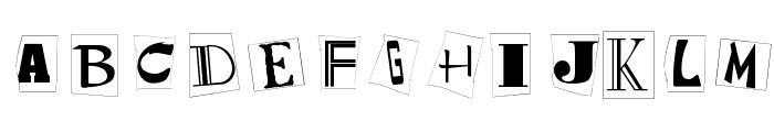 Kidnap Note Medium Font UPPERCASE